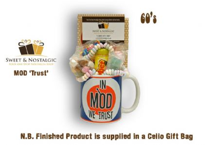 MOD Mug 'Trust' with/without a Groovy Selection  of 60's Sweets